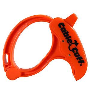 Kabelklemme Orange Cable Clamp large Cable Cuff wiederlösbarer Kabelbinder NEU