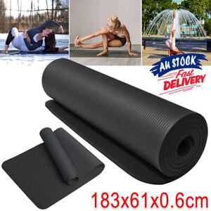 TPE Fitness Gym Non Slip Pilates Eco Friendly Dual Layer Exercis Yoga Mat ACB#
