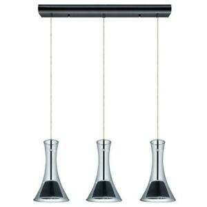 EGLO Musero 60-Watt Black Chrome Integrated LED Pendant 201428A - NEW
