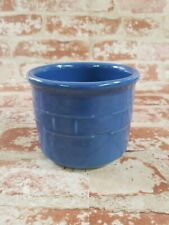 Longaberger Pottery Woven Traditions 13 oz Crock / Candle Holder Cornflower Blue