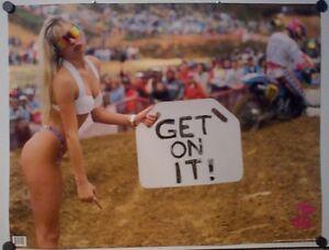 Vintage Rad & Bad Get On It Motocross Motorcycle Poster Budds Creek 1990's