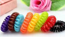 Haargummi Kunststoff-Spirale Telefonkabel, elastisch, Haarschmuck 10er Set NEU