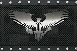 Universal Stainless Steel Grill Badge Emblem for Vehicle Truck AMERICAN EAGLE