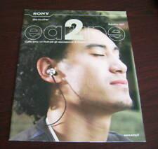Catalogo Sony cuffie autunno 2007 depliant brochure music walkman mp3 diffusori