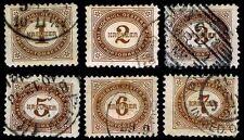 1894-95 Austria #J1-J6 Postage Due - Used - Vf - Cv$36.25 (Esp#2237)
