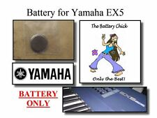 Battery for Yamaha EX5 Synthesizer - Internal Memory Replacement Battery