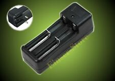 UE-Caricabatterie doppio-Charger per 3,7 V 18650 16340 14500 li-Ione Batteria Nero