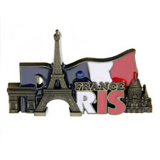 Paris Landmarks France Tourist Travel Souvenir 3D Metal Fridge Magnet Sticker