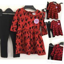 New Baby girls leggings & new Disney Minnie Mouse jumper dress headband 12-18mon