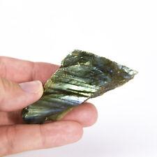 Natural Rough Labradorite feldspar Crystal Specimen 1 polished side 0007