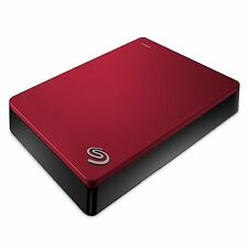 """New Seagate Backup Plus 4TB 2.5"""" Portable External Hard Drive 4 TB HDD RED"""
