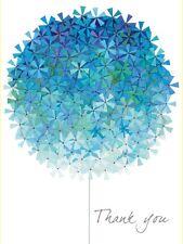 Rachel Ellen Mini Blue Allium Thank You Cards With Glitter Note Cards 5 Pack Mum