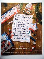 PUBLICITE-ADVERTISING :  KINDER Père Noël  2016 Chocolat