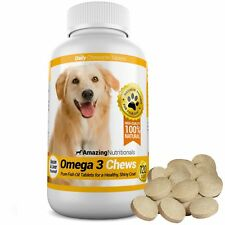 Amazing Nutritionals Omega for Dogs Promotes Shiny Coat, Joint and Brain Health