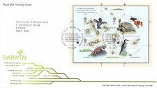12 FEBRUARY 2009 DARWIN PLANTS ANIMALS EVOLOTION M/SHEET RM FDC SHS SHREWSBURY b