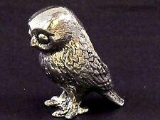Owl English Pewter Pin Cushion by A E Williams Birmingham UK Boxed