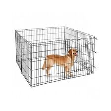 Large Outdoor Enclosed Dog Kennel Steel Puppy Pen Dog Crate Gate Cage Exercise