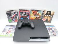 Sony PS3 PlayStation 3 Slimline 160GB Spielekonsole (CHECH-2504A) + Spiele