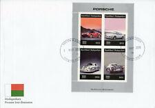 Madagascar 2019 FDC Porsche 4v M/S Cover Cars Stamps