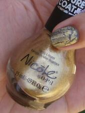 NEW! Nicole By OPI Texture Coat nail polish lacquer GOLD TEXTURE Top Coat