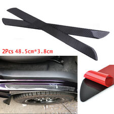 Universal 2pc Door Sill Carbon Fiber Car Scuff Plate Cover Panel Step Protector