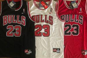 #23 Michael Jordan Men's/Youth Chicago Bulls White/Red/Black Throwback Jersey