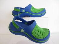 Crocs Kids Crosmesh Clogs. Blue/Green    (R43B)