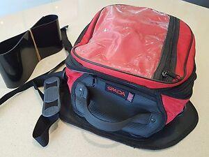 Spada Expandable Tank Bag Magnetic Motorcycle Motorbike Luggage RED