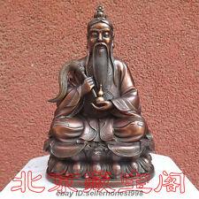 China Religious Red Bronze Taoism Tai Shang Lao Jun Taoist Buddha Art Statue