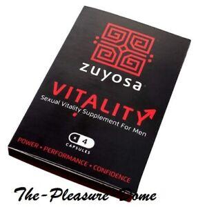 ZUYOSA SEXUAL VITALITY SUPPLEMENT FOR MEN 4 PACK Longer Harder  Pill