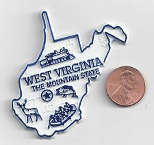 WEST VIRGINIA  WV   THE  MOUNTAIN  STATE OUTLINE MAP MAGNET,   NEW