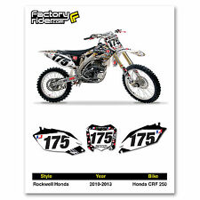 2010-2013 HONDA CRF 250 Team Rockwell Dirt Bike Graphics Custom Number Plates
