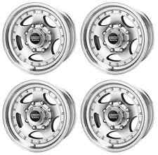 AMERICAN RACING AR23 AR235865 RIMS QTY 4 15X8 -19MM OFFSET 5x4.5 MACHINED W/CC