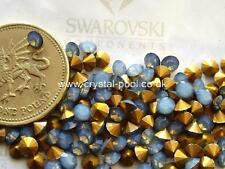 30 X Swarovski 16ss / 31pp Opal Blanco Star Shine gold-foiled # 1012 chatons