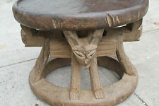 "Arts of Africa - Old  Bamileke Stool - Cameroon - 14"" Height x 118.5"" Wide"