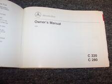 1994 Mercedes Benz C220 C280 Sedan Owner Owner's Operator Guide Manual 2.2L 2.8L