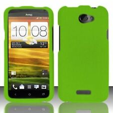 Hard Rubberized Case for HTC One X - Green