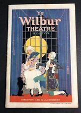 1919 Wilbur Boston Theater Program  Booklet Super Art Cover & Ads