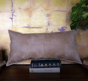 Beige four-piece cross model faux lether fabric lumbar pillow cover -1qty