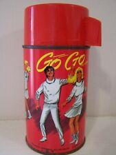 Vintage Very Nice Rare 1966 Go Go Vinyl Lunchbox Brunch Bag Complete Thermos
