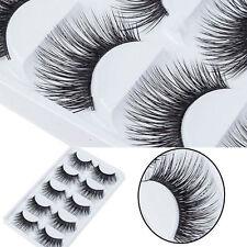 5 Paar 3D Dick Lange Falsche Wimpern Künstliche Augen Make up Eyelashes Wimpern