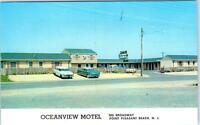 POINT PLEASANT BEACH, New Jersey  NJ    Roadside OCEANVIEW MOTEL 1950s  Postcard