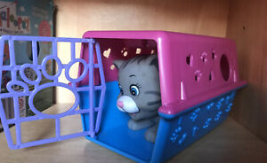 Toy Silicon Pet Cat With Carrier