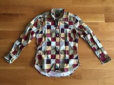 Gitman Bros Vintage NEW Block Check 100% Cotton Oxford Shirt S Small $185 NWT