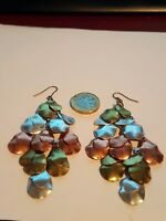 Gold/Silver/Bronze Plated Drop Earrings