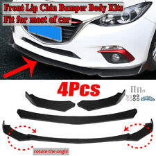 For Ford Fiesta Mondeo Focus RS ST 4PCS Matte Black Front Bumper Lip Spoiler