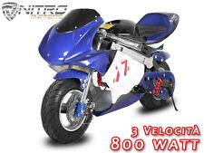 ECO MINIMOTO ELETTRICA 800W ! mini moto per bambino cross quad bimbo miniquad