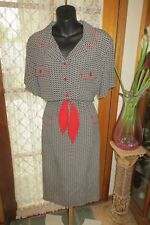 VINTAGE  80's does 50's ~ TODAY'S CLASSICS ~  DRESS *Size 16 *