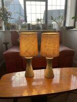 PAIR OF CONTEMPORARY DANISH CERAMIC LAMP STUDIO STYLE GLAZED POTTERY