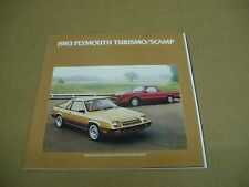 1983 Plymouth Turismo 2.2 Scamp GT pickup truck sales brochure dealer literature